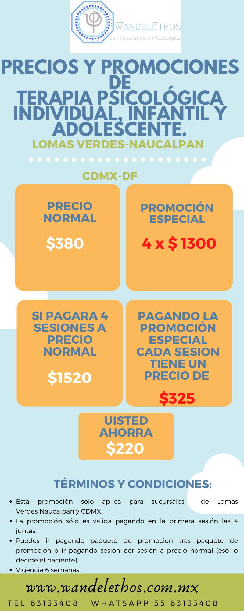 PROMOCIÓN ESPECIAL LOMAS VERDES & CDMX